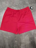 Athletic Works Shorts Men's 2XL 44-46 Red Mesh Drawstring New With Tags