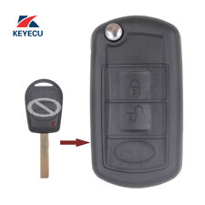 Modified Flip Remote Key Fob 3Button 433MHz ID44 for Range Rover Sport 2002-2006
