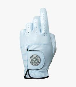ICE BLUE, ASHER PREMIUM CABRETTA GOLF GLOVE, FITS LEFT HAND OF RIGHTY GOLFER