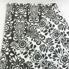 "Set 2 IKEA AKERKULLA Zipper Pillow Covers Euro Sham Ivory Gray Floral 25"" Square"