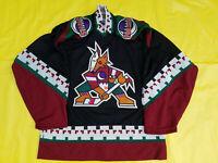 Arizona coyotes Jersey Mens Authentic 46-R retro Starter black Phoenix