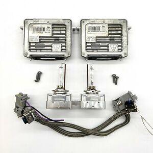 2x OEM 13-17 Buick Enclave Xenon Ballast D3S Light Bulb Wire Kit Control Unit