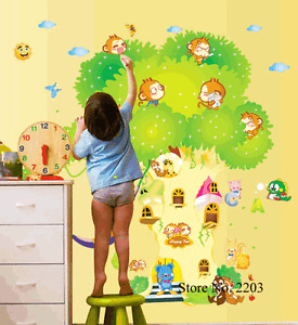 Large Cute Animals Branch Removable Sticker Decal Nursery Décor art Kids room
