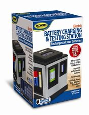 Battery Charging & Testing Station Charger Charge Regular Rechargeable Batteries