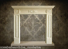 Camino in Pietra Leccese Stile Impero Empire Fireplace Stone VINTAGE HOME DESIGN