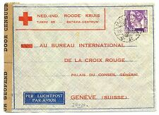 NED INDIE DUTCH INDIES 1940-11-25  RED CROSS-CENSOR PM-MALANG-FROM=PASOEROEAN=