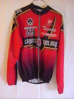 BERGAMO Laguna Cyclery Cycling Jacket Jersey Zip Front - Mens Size Large