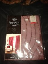 The lifestyle collection by Emma Barclay Boston  aubergine fully lined curtains