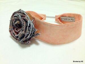 Infant Headband Handmade by Birralee by ME using Aboriginal fabric. Size 43 cm