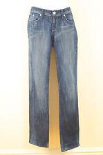 Rock & Republic Denim Stickerei Logo-Pocket gerades Bein Jeans Sz:29