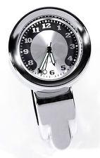 Montre En Métal Pour Guidon Chrome Moto Horloge Grand cadran f. Harley Honda BMW