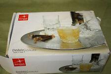 Bormioli Rocco Italy Crystal Cut Dedalo Rocks 6 Glasses Set For Cognac Whisky