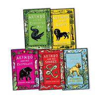 Alexander McCall Smith Collection Akimbo 5 Books the Baboons,Crocodile Man NEW