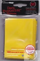 50 ULTRA PRO YELLOW DECK PROTECTORS CARD SLEEVES FOR MTG WoW POKEMON