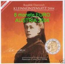 2004 divisionale ufficiale 8 monete 3,88 EURO Austria Autriche Osterreich