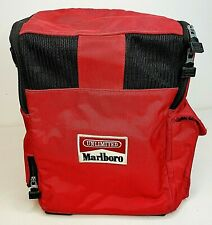 Vintage Marlboro Duffel Cooler Beer Picnic Insulated Tote Bag Red Camping Logo