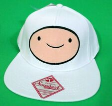 Adventure Time Finn White Snapback Flat Bill Hat Cartoon Network