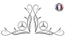 2 Stickers autocollants décor vitre Mercedes camion truck decals Ref: merc10