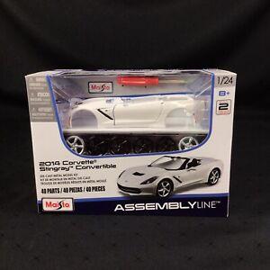 MAISTO ASSEMBLY LINE 2014 Corvette Stingray Convertible 1/24 Die-Cast Model Kit