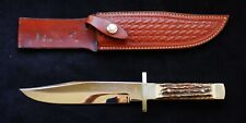 "NOS "" Kershaw ""Original Bowie Knife"" Solingen Germany Stag w/ Sheath"
