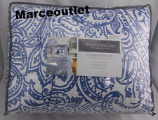 Charter Club Damask Designs Paisley Denim FULL / QUEEN Comforter & Shams Blue