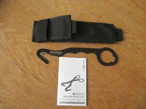 Benchmade 8 Rescue Hook Strap Cutter, Soft Black Sheath NSN: 4240-01-568-3219