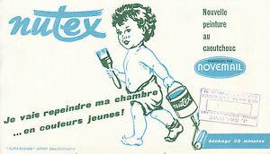 Buvard vintage peinture Nutex novemail