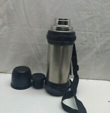 Cellar Hot Cold Beverage Thermos Stainless Vacuum Flask 1 Liter Shoulder Strap