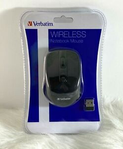 Verbatim Wireless Notebook Mouse 98122 Black Nano Receiver and Batteries