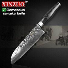 "XINZUO 73 layers 7"" inch santoku knife Japanese Damascus kitchen knife japanese"