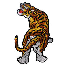 Tiger Clothes Patches Embroidery Animal Large Applique Scrapbooking 33.5cm*22cm