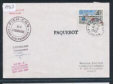 04567) Antarktis Frankreich Reunion 14.8.89, SP Bordpost signed