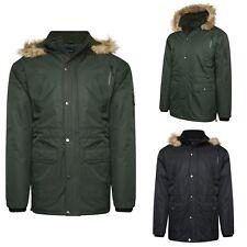 Mens Semi Fleece Lined Winter Waterproof Breathable Coat Jacket size M to 5XL