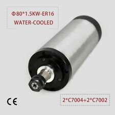 1.5Kw Er16 Water Cooled Spindle Motor 80mm 4 bearing Cnc Engraving Grind Mill