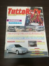 TUTTORALLY 1990 Mondiale Sanremo Lancia Sainz Cerrato Fassina rivista auto rally