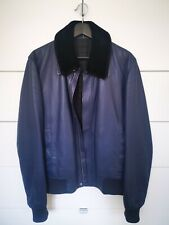 Dior Homme Leather Jacket Fur Collar RRP $5500AUD Size 50