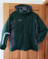 Columbia Men's Green & Gray Waterproof Breathable Fabric Heavy Coat Size Medium