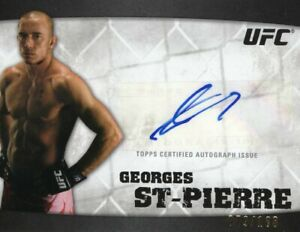 Georges St-Pierre 2010 Topps UFC Knockout Autograph Card #079/188