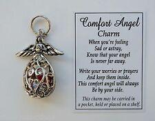 K COMFORT ANGEL prayer box CHARM POCKET TOKEN loss loved one sympathy memorial