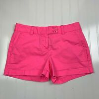 Vineyard Vines Womens Four Pockets Flat Front Pink Chino Shorts Size 4