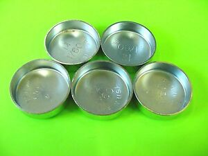 "Fits GM 5pk 1-3/4"" Freeze Expansion Plugs Zinc Plated Steel Engine Cylinder NOS"