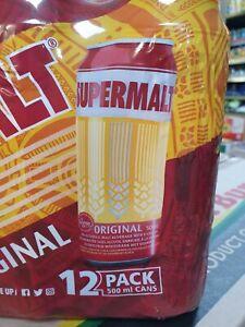 Supermalt  cans  full case of 12