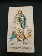 Santino antico L'Immacolata Concezione 18 agosto 1898