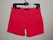 NEW J BRAND WEATHERED PINK NASH SLOUCHY BOY FIT BOYFRIEND COTTON SHORTS SIZE 25