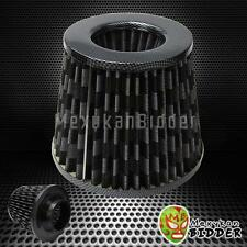 3'' Inlet Carbon Fiber Short Ram/Cold Intake High Flow Mesh Air Filter Universal
