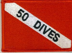 SCUBA DIVING - 50 Dives Patch  SC305