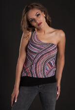 Sweet Pea Women's Sling Shoulder Printed Nylon Top, Small