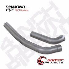 """Diamond Eye Aluminized 4"""" Off Road Down Pipe fits 03-07 F-250/F-350 6.0L 125050"""