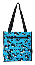 Orca Whale Womens Small Tote Bag Handbag Purse for Travel Work School Shopping