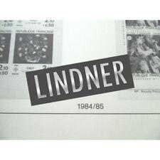 FEUILLES LINDNER T. 1984-1985 pour Carnets de timbres (France) ppH1-H2